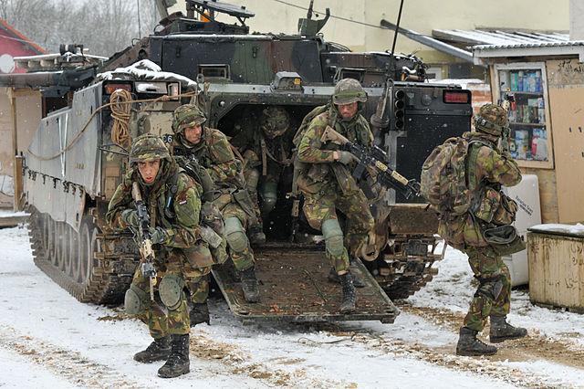 """Panzergrenadiere des niederländischen Heeres bei der Übung """"Allied Spirit I"""" im Jahr 2015. Foto: Markus Rauchenberger - US Army"""